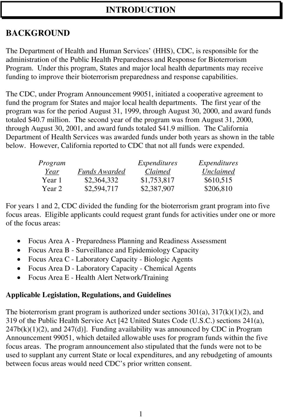The CDC, under Program Announcement 99051, initiated a cooperative agreement to fund the program for States and major local health departments.