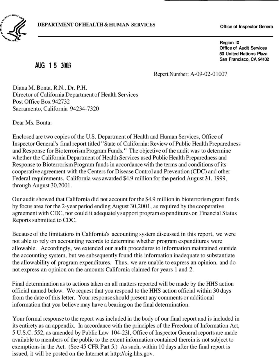 rvices Post Office Box 942732 Sa