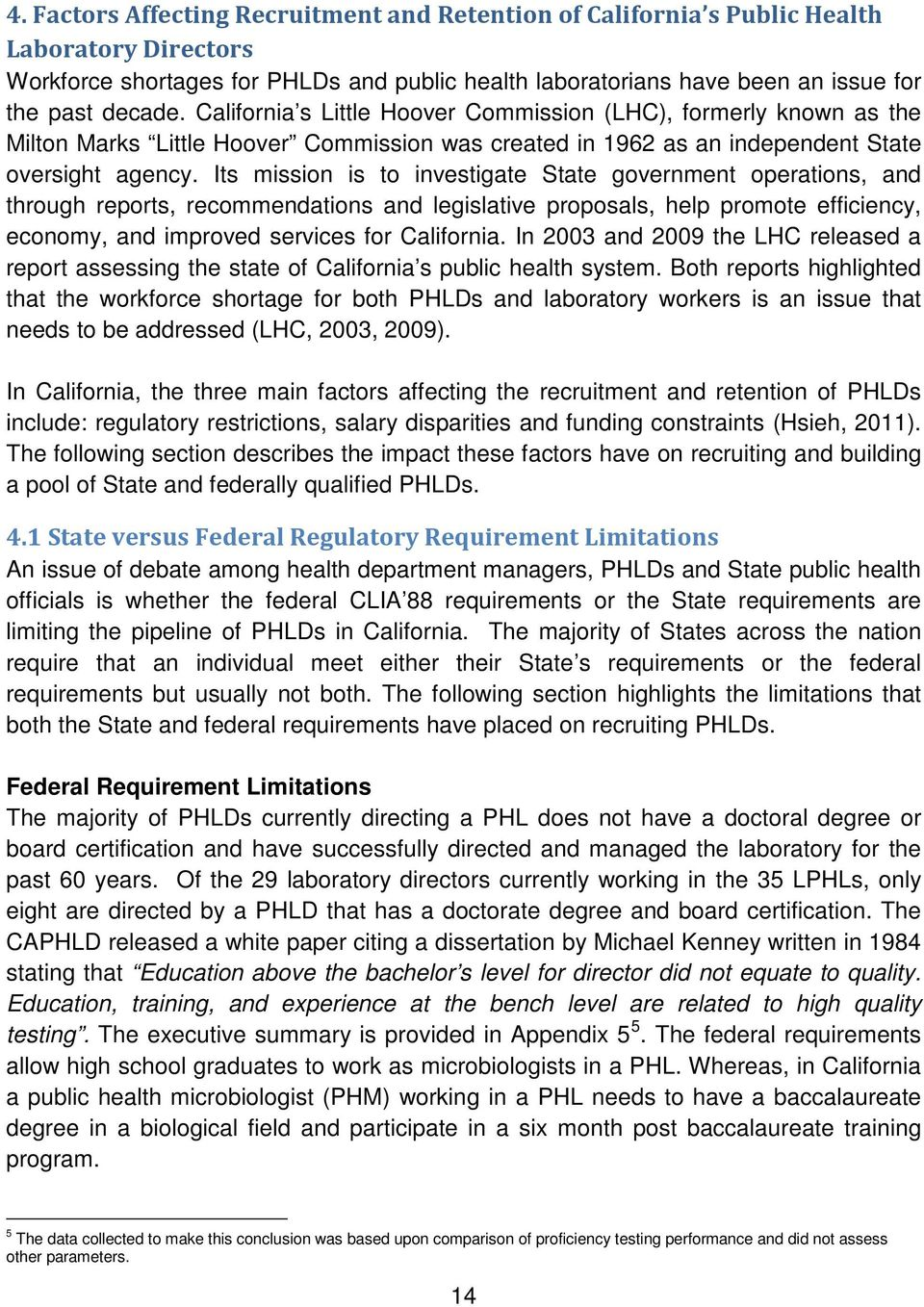 Recommendations to Address California s Public Health Laboratory
