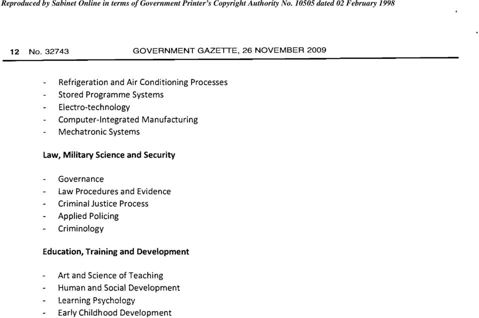 Computer-Integrated Manufacturing Mechatronic Systems Law, Military Science and Security Governance Law Procedures