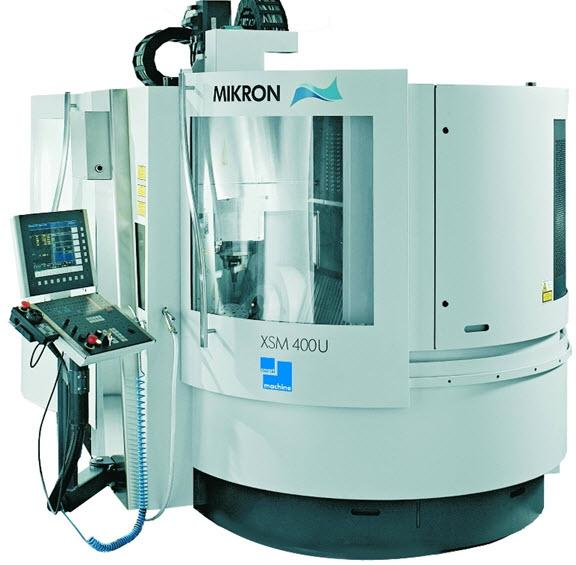 1) 5 Axis Vertical Machining Center (Mikron XSM 400U) 42.000 rpm spindle Measuring probe M&H PS 32.
