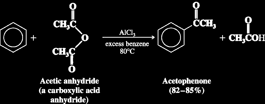 Friedal-Craft Acylation An acyl group has a carbonyl attached to some R group Friedel-Crafts acylation requires
