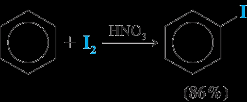 Halogenation of Benzene Halogenation of benzene requires the presence of a Lewis acid Fluorination occurs so rapidly it is hard to stop at monofluorination of