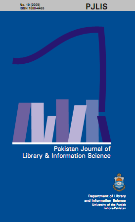 Pakistan Journal of Library & Information Science, 12 (2011) Available at http://pu.edu.