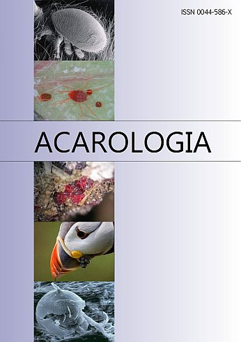 ACAROLOGIA A quarterly journal of acarology, since 1959 Publishing on all aspects of the Acari All information: http://www1.montpellier.inra.