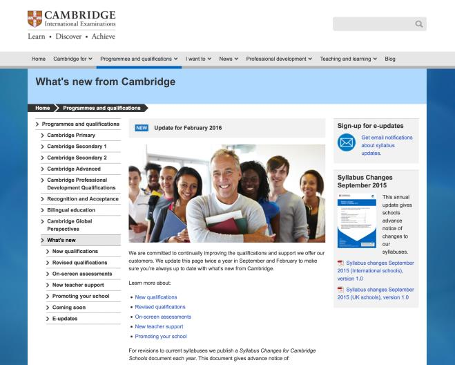 This means that all our administrative processes and regulations will be detailed in one document, the Cambridge Handbook, and it will be easier for exams officers to find the information they need