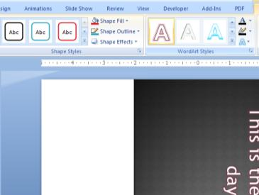tab. You may also change the direction of the text, alignment and convert text to a SmartArt graphic if you wish. 2.