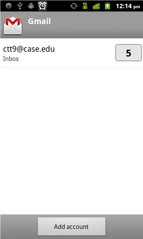 25. Tap the Account name (abc123@case.edu). 26.