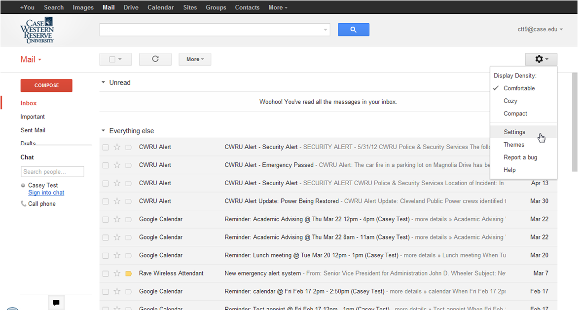 2. The Google Mail inbox window will open.