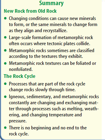 Table of Contents Chapter: Rocks and Minerals