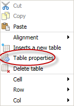 Inserting Tables You can use tables to display tabular content or as a way to format a page layout. Inserting a Table 1. Place your cursor at the location where you would like for the table to appear.