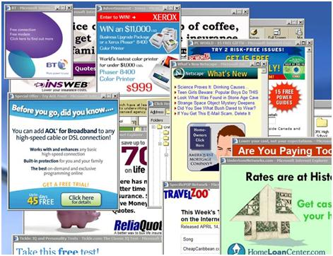 Adware Delivers advertising content in unexpected manner Usually