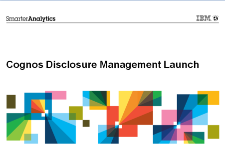 PowerPoint Integration with Cognos Disclosure Management Cognos Disclosure Management automates the creation of various management and executive PowerPoint presentations Data and financial data in