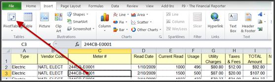 Creating a Pivot Table Click on any cell within the table and go to the Insert tab and click on Pivot Table.