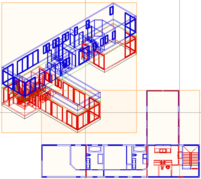 5. In the Object Info palette: Notice that 2 viewports are selected (see Note below figures), as shown at left. Click Layers to display the Viewport Layer Properties dialog box.