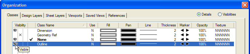4. Press the X key, and then select the outer concentric rectangle (only the rectangle should now be selected), as shown at left. From the menu, select Modify > Decompose.