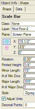 Inserting a plug-in object Next, you insert a scale bar plug-in object into the drawing. 5. From the Dims/Notes tool set, click the Scale Bar tool.