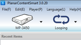 3.1. Step 1 of 3: Select Media Player Model Select a player model* from the drop down list. Player Model (MP-3450) *Note: MP-3450 is already preselected for you. 3.2.