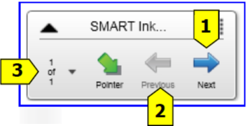 Press the button for the desired color you wish to use for annotating 5. Using the SMART stylus, write on the displayed slide. 6.