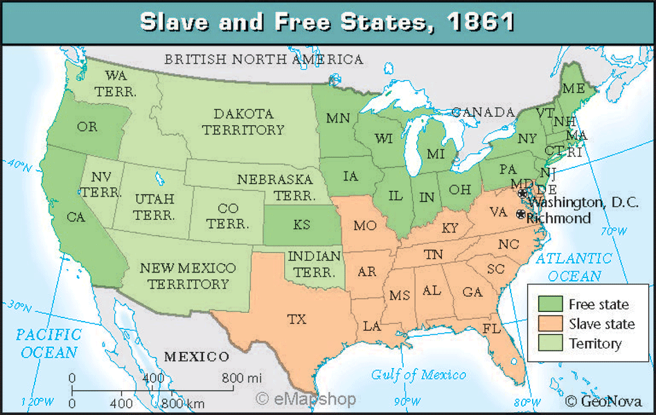 *Where were the slaves states?