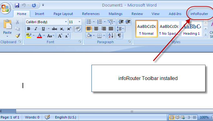 A tour of Microsoft Word Integration The following screen shots are from Microsoft Word with the