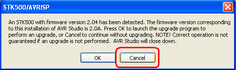14. Open AVR Studio from Start Menu. Click Con button on the tool bar to open Connect Dialog. 15.