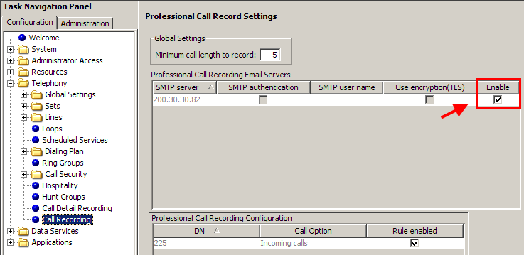 Attribute Enable and disable rule through F998 Rule enabled Monitor auto answer lines Description Tick to enable or disable the feature code used to turn on/off automatic call recording through a set