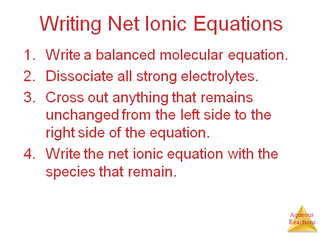 Nov 17 1:09 PM Sample Problem Write out the balanced net ionic equation