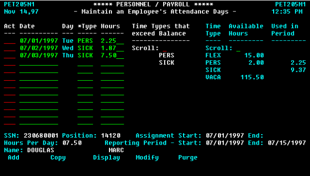 7 2.1.2 Odyssey Payroll System Odyssey Payroll System is using IBM mainframe for the payroll system. It is focuses on Time and Attendance of the employee.