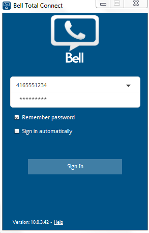 Figure 4. Emergency location page in the Bell Total Connect web portal 4.0 Desktop app functions 4.