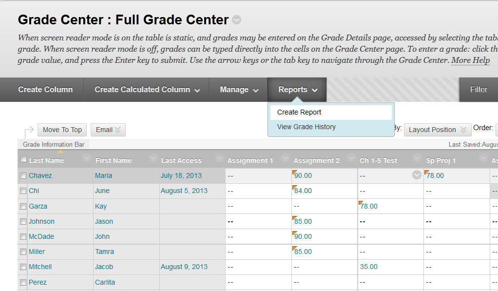 Dallas County Community College District Reports You can generate reports.