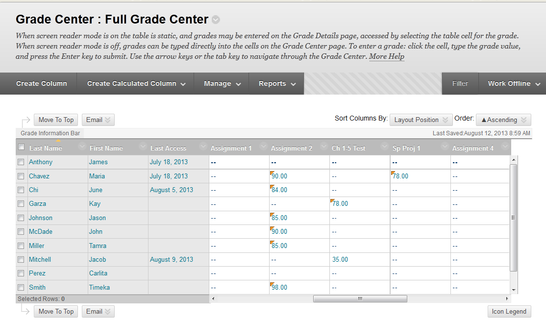 ecampus 103 Version 9.1 Smart Views Overview Smart Views are instructor customized views of the Grade Center.