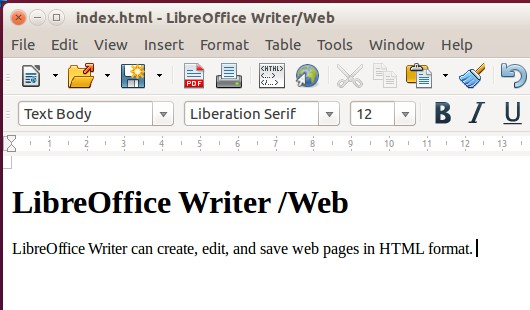 Draw documents Draw documents cannot be saved in HTML format, but have to be exported as HTML documents. Exporting drawings as web pages from Draw is similar to exporting a presentation from Impress.