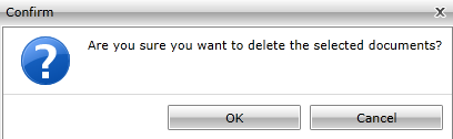 DELETE DOCUMENT 1. Click Delete in the Document Toolbar to delete document out of epm. 2. Click OK button. 3. The document is workflowed to the Void state and moved into the Recycle Bin.