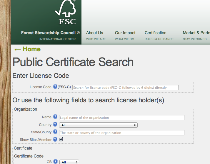 One or more of the below fields can be filled in to search for the target supplier(s): License