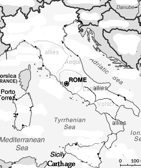 The Roman Republic Rome constantly faced threats from its neighbors To protect the Republic, Rome either