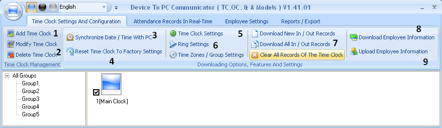 APPENDIX SOFTWARE COMMUNICATOR BUTTON DESCRIPTIONS Below you will find a description of all the buttons on the Connections window on the Bio-Office Standard Software: A.