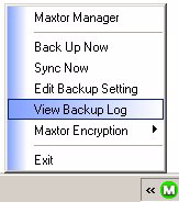 Tray Menu Step 2: Click View Log to open a text file