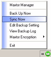 customized it to sync files OR Click Sync Now in the lower right corner of the Sync window.