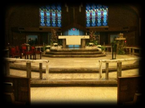 Place or Object #6: The Baptismal Font It is at the baptismal font that the deacon or priest pours water over the child three times while saying: I baptize you in the name of the Father, and of the