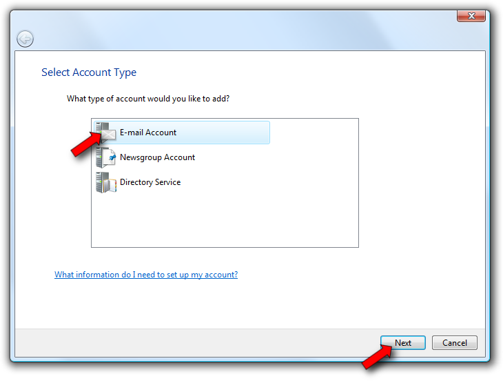 To set up Outlook Express, Windows Mail, or Microsoft Outlook 2000 to access your email account, follow these instructions.
