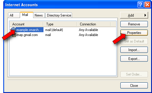 Step 7: Additional Account Settings If this did not take you back to the Internet Accounts window, choose Accounts from the Tools menu.