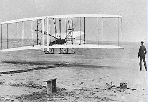 On December 17, 1903, Orville and Wilbur Wright flew the first heavier than air, powered airplane.