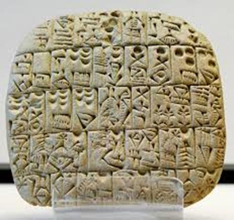 The Invention of Writing The Sumerians first used cuneiform to keep business and trade