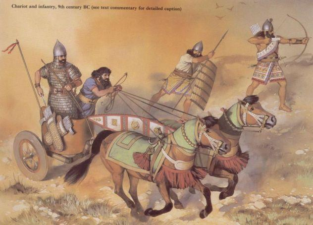 The Assyrians The Assyrians had a strong army that used chariots and iron weapons.