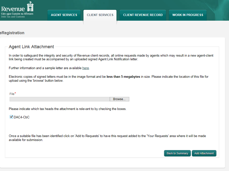 2.2.11 Once completed, click Next on the ROS screen. 2.2.12 To upload the completed Consent Letter, click Browse and