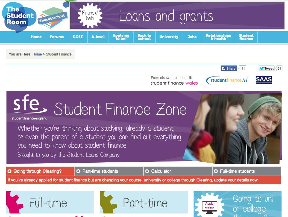 Student Finance Applications Key Key message