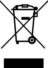 The crossed-out wheeled-bin symbol on your product, literature or packaging reminds you that the electronic products, batteries, and accumulators must be taken to separate collection at the end of