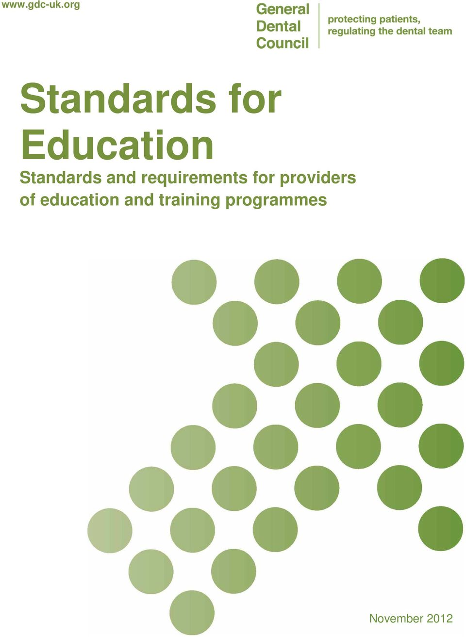 Standards and requirements for