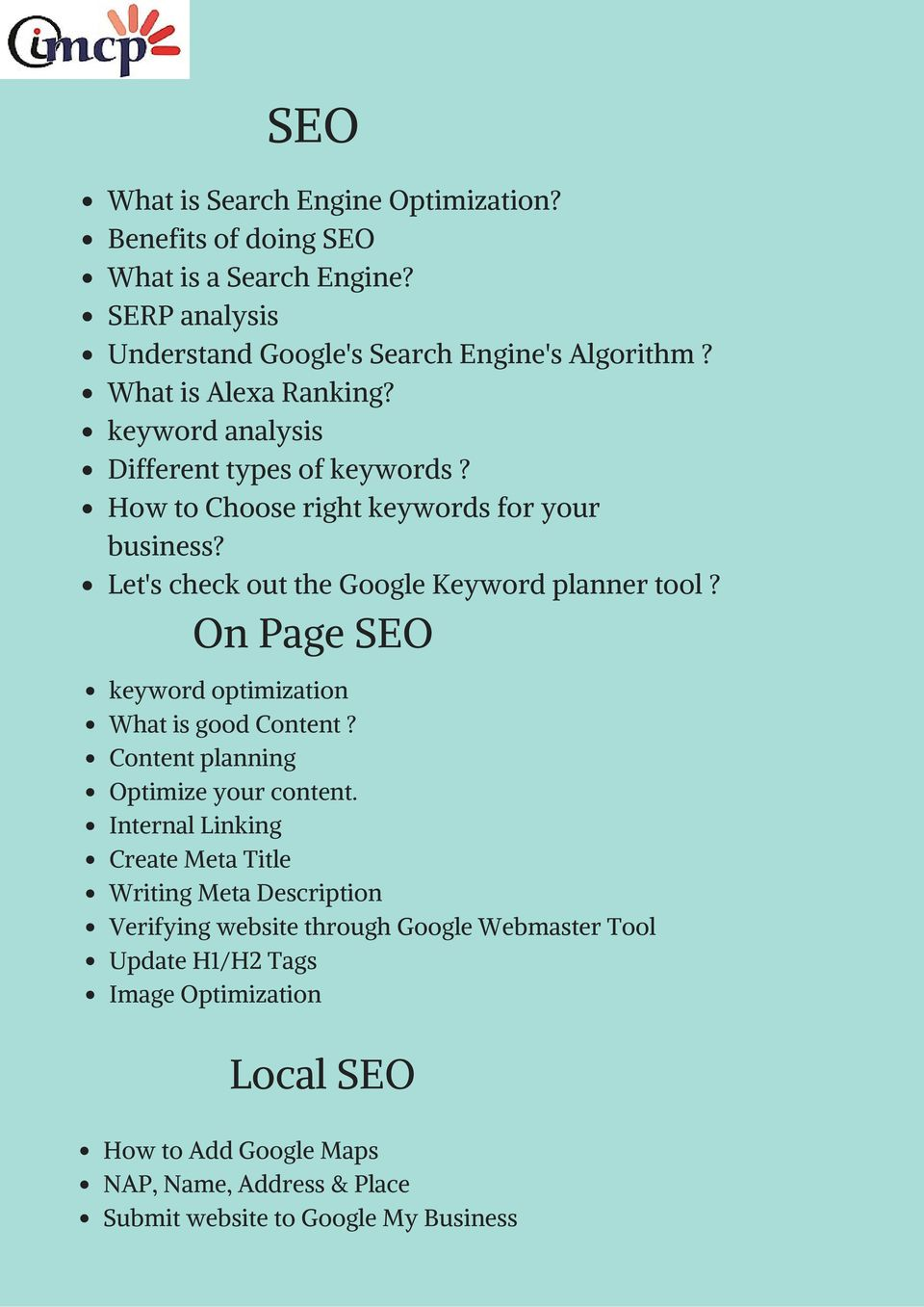 Let's check out the Google Keyword planner tool? On Page SEO keyword optimization What is good Content? Content planning Optimize your content.